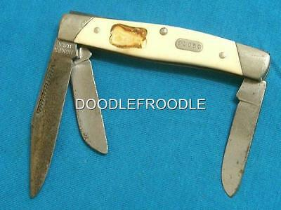Vintage Boker Tree Brand Usa 1784 Cattle Stock Knife Lewis & Clark Knives Pocket
