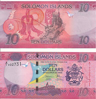 Salomonen / Solomon Islands - 10 Dollars 2017 UNC - Pick New, Serie A/1
