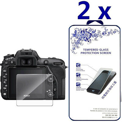 2-Pack For Nikon D7500 Tempered Glass Screen Protector