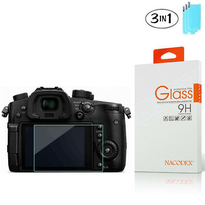 3-Pack Nacodex For Panasonic Lumix GH5 Tempered Glass Screen Protector