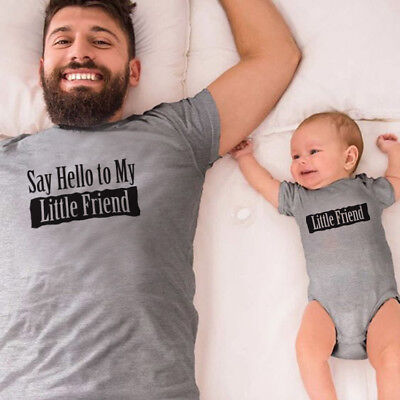 Say Hello to my little friend - Daddy and Me Matching T-Shirt / Bodysuit