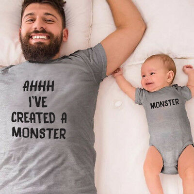 AHHH I've created a Monster - Daddy and Me Matching T-Shirt / Bodysuit