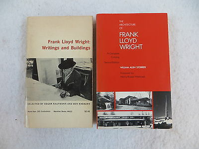 Lot of 2 FRANK LLOYD WRIGHT Writings & Buildings Architecture Complete Catalog