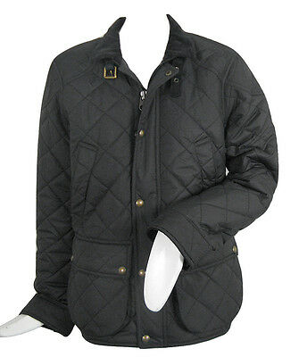 NEW $325 Polo Ralph Lauren Womens Quilted Jacket! Equestrian Style  Green, Black