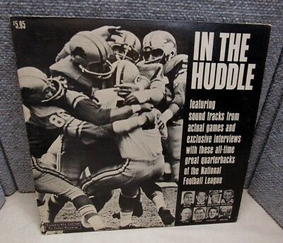 In The Huddle Game Quarterback Soundtracks NFL Football Album LP Vinyl 33