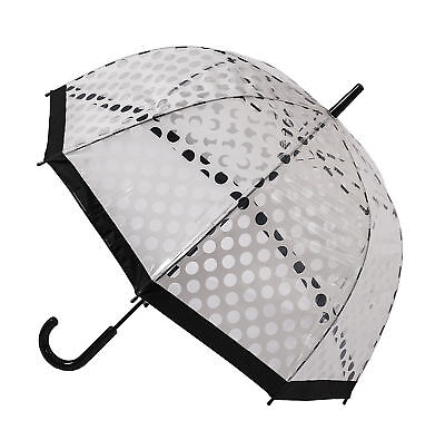 Soake Clear Dome Umbrella - White Polka Dot
