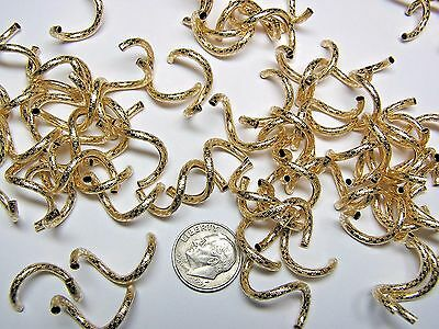 26mm X 2mm CURLY Q BEADS -  ETCHED - PATTERNED - GOLD-FILLED - BAG OF 100 PIECES