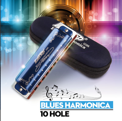 Easttop T008K 10 Hole Portable Professional Blues Harmonica Key For Beginner