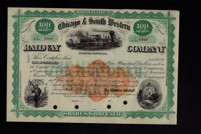 Chicago & South Western Railway Company dd 18xx - unissued