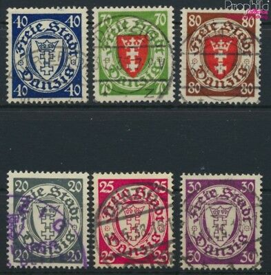 Gdansk 245-250 (complete issue) fine used / cancelled 1935 Crest (9045883