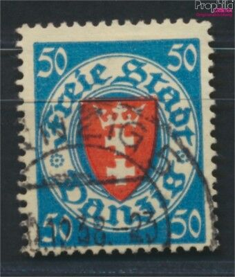 Gdansk 200y ba tested fine used / cancelled 1924 State Emblem (9045896