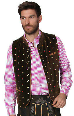 Stockerpoint Traditional Costume Waistcoat Gilet Calzado Brown