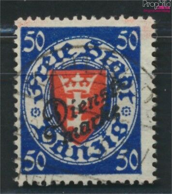 Gdansk D50 tested fine used / cancelled 1924 service mark (9049047