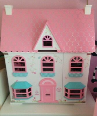 Early Learning Centre ELC Rosebud Dolls House With Extras People Furniture  VGC