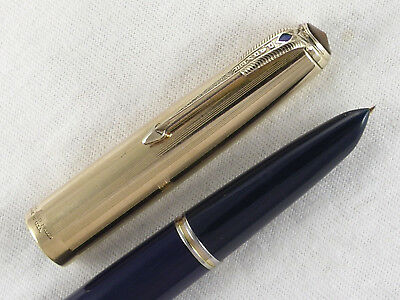 "Vintage 1945 Parker ""51"" Vacumatic Fountain Pen ~ Gold Filled Cap ~ Restored!"