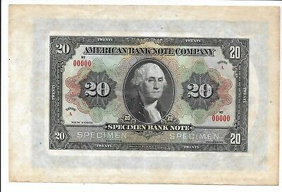 USA / American Bank Note Company - $20, nd (1900's). Specimen. EF - AU. RARE.