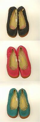 New Keen Womens Rivington II Ballerina Canvas Shoes Flats Size 7 Teal Pink Red
