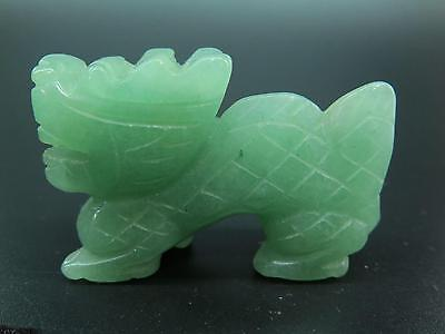 Natural Chinese Dongling Jade Carved Dragon Statue