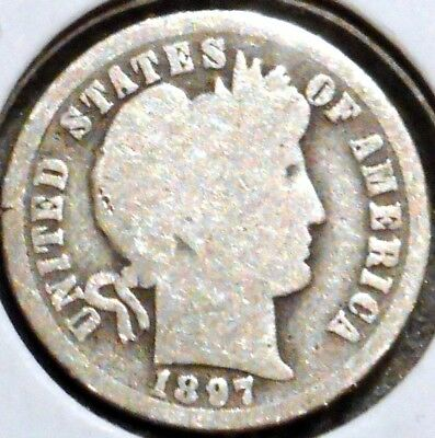 Barber Dime - 1897-O - Historic Silver! - $1 Unlimited Shipping