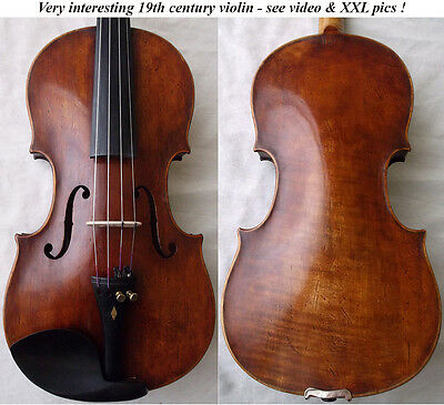 FINE OLD 19th CENTURY MASTER VIOLIN 1800s -video- RARE ANTIQUE バイオリン скрипка 997