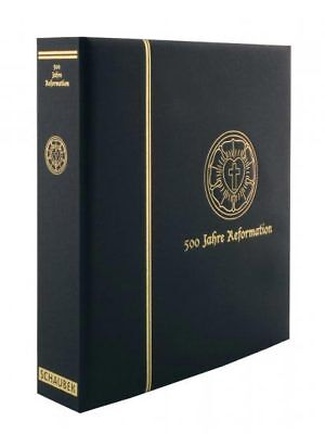 thematic album 500 years of Reformation - black screw post, in a binder leathere
