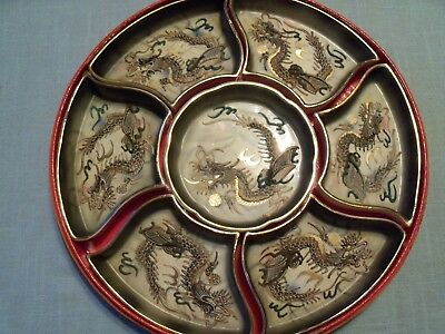 Vintage Moriage Dragonware Shofu Made In Japan Condiment  Dishes Original Box