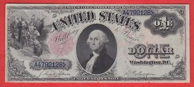 1880 $1 LARGE Red Seal HISTORIC VF+ United States Note