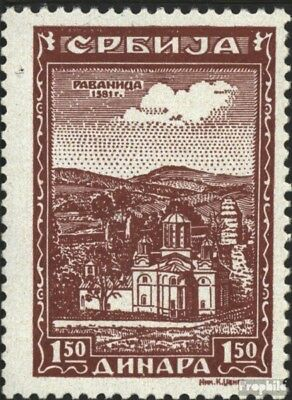 Serbia (German.cast.2.world.) 73 unmounted mint / never hinged 1942 serbian. Klo