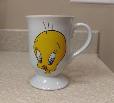 Tweety Bird Pedestal Coffee / Tea Mug - Warner Bros Movie World-Loony Tunes