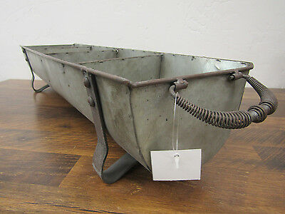 New Industrial Galvanized Metal Divided Bin Caddy Carrier Tote Organizer