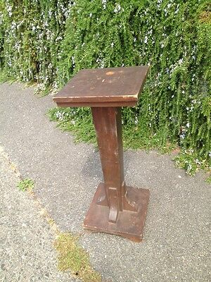 Antique ARTS & CRAFTS PLANT STAND TABLE Floor Lamp Old Unusual Mixed Wood Pine A