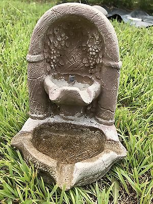 Vintage Cement Grotto Grapes Finial Statue Fountain Plumberd copper tubing 1996