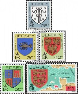 united kingdom - Jersey 273A-277A (complete issue) FDC 1982 Crest