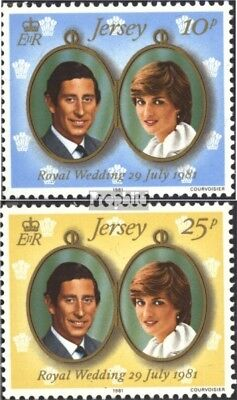 united kingdom - Jersey 262-263 (complete issue) FDC 1981 Wedding