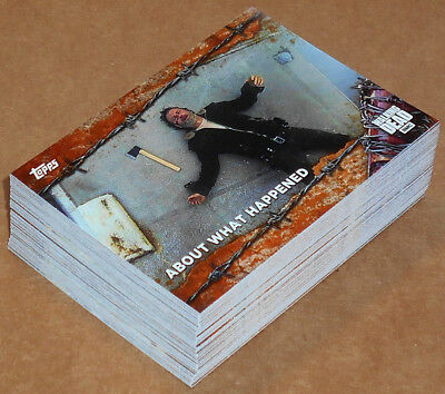 Walking Dead Season 7 ~ RUST PARALLEL Base Card Lot (62) no dupes