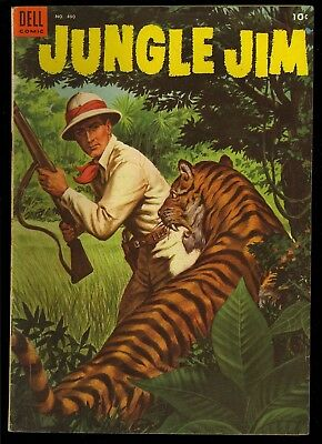 Four Color #490 (Jungle Jim #1) Nice Painted Cover Dell Comic 1953 VG+