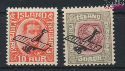 Iceland 122-123 MNH 1928 Airmail (9077388