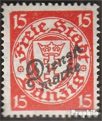 Gdansk D44 tested fine used / cancelled 1924 service mark