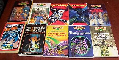 Lot of 10 Choose Your Own Adventure Books Lot Bat Man, Haunted Museum+