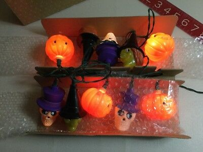 Vintage Avon Glowing Ghouls Halloween Lights String Gift Collection *2 Lites Out