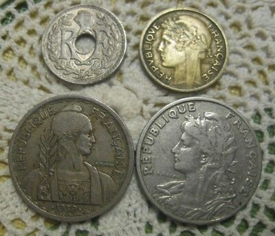 1905-1949 France Type Coins Lot of 6 Diff. BIN FREE SHIP