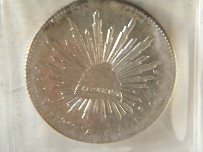 1 mexican coin 8 reales 1897 A.M mexico city .903 silver