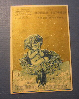 Old 1880's Medicinal Victorian Trade Card for SCROFULAR or PIMPLES - SALEM MASS.