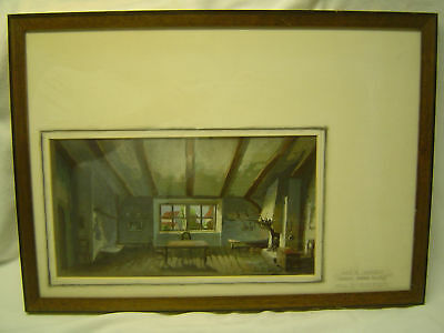 Set Design Illustration from Los Angeles Play John Ford's WHAT PRICE GLORY, 1949