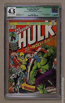 Incredible Hulk (1st Series) #181 1974 CGC 4.5 QUALIFIED 0316174002