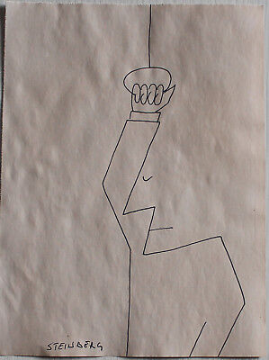 Ink drawing signed STEINBERG