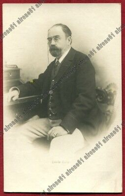 EMILE ZOLA 02 SCRITTORE LETTERATURA ECRIVAIN FRANCE Cartolina REAL PHOTO