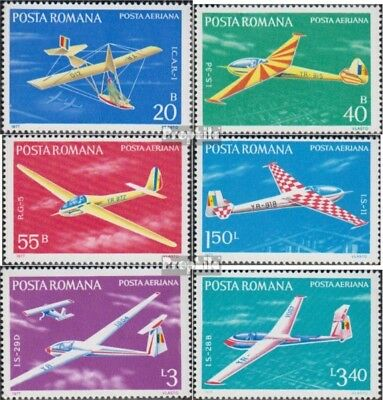 Romania 3411-3416 (complete issue) unmounted mint / never hinged 1977 Gliders
