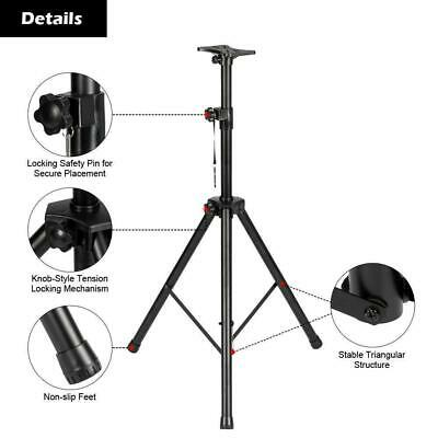 A Pair Of Universal Tripod Audio DJ PA Speaker Stands + Carrying Bag US