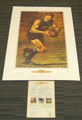 Kevin Bulldog Murray Fitzroy Lions Signed Jamie Cooper Print Official Afl